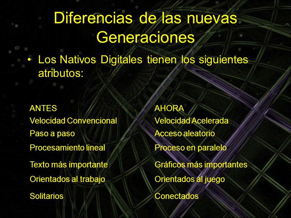 Diferencias de las nuevas Generaciones