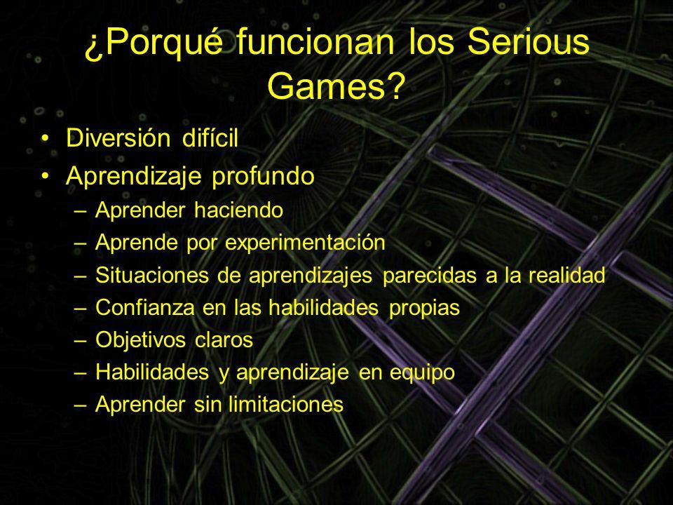 ¿Porqué funcionan los Serious Games