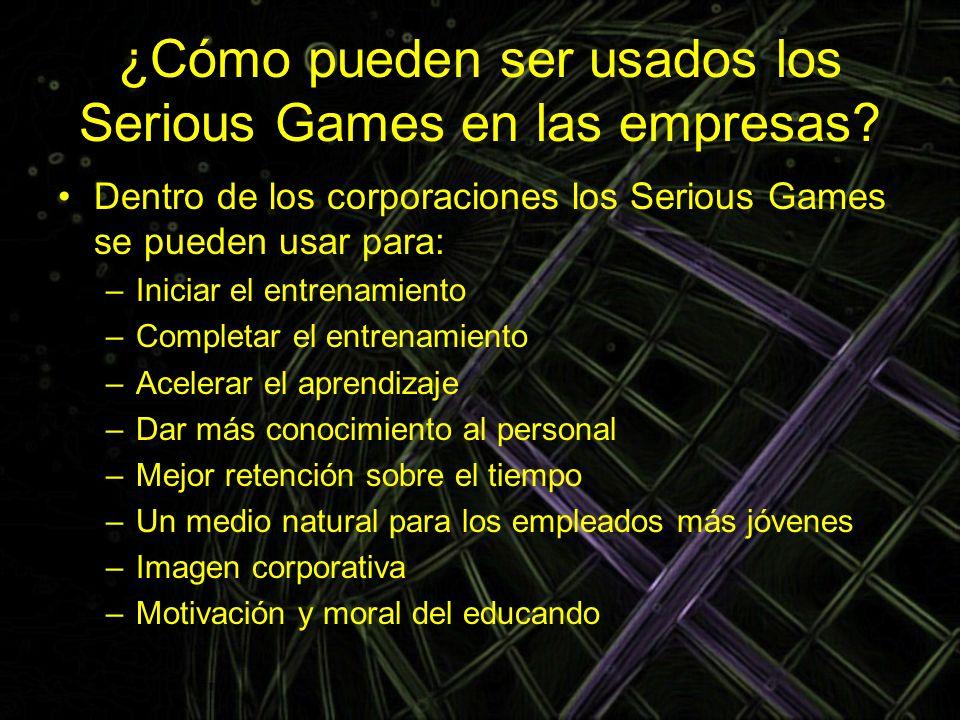 ¿Cómo pueden ser usados los Serious Games en las empresas
