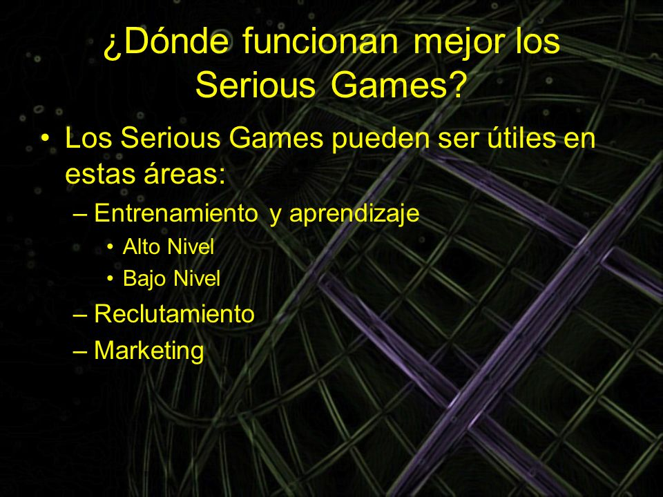 ¿Dónde funcionan mejor los Serious Games