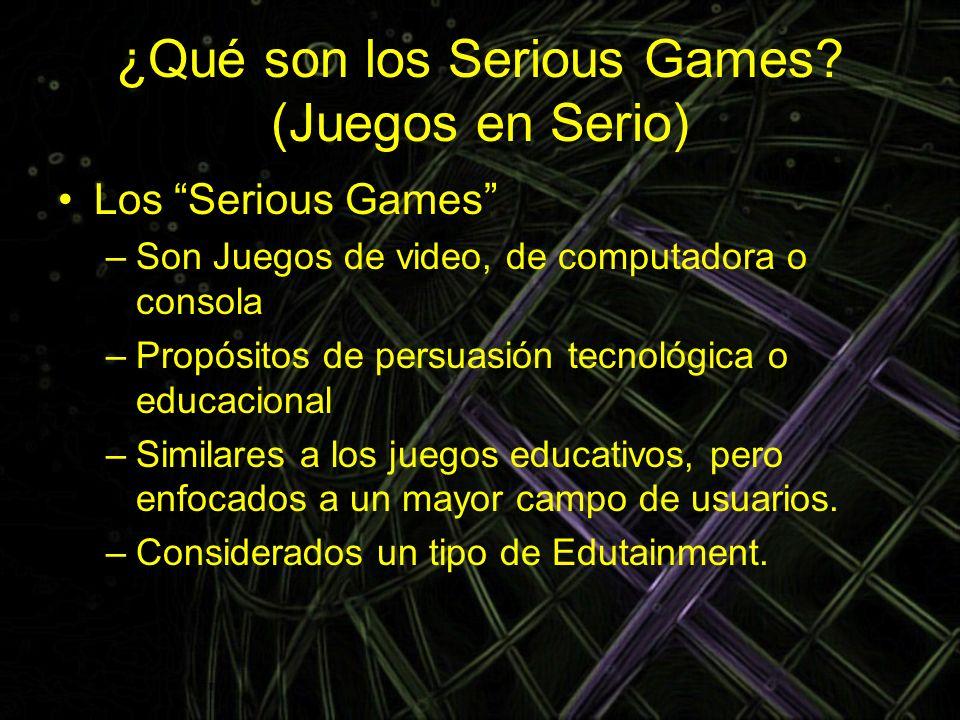 ¿Qué son los Serious Games (Juegos en Serio)