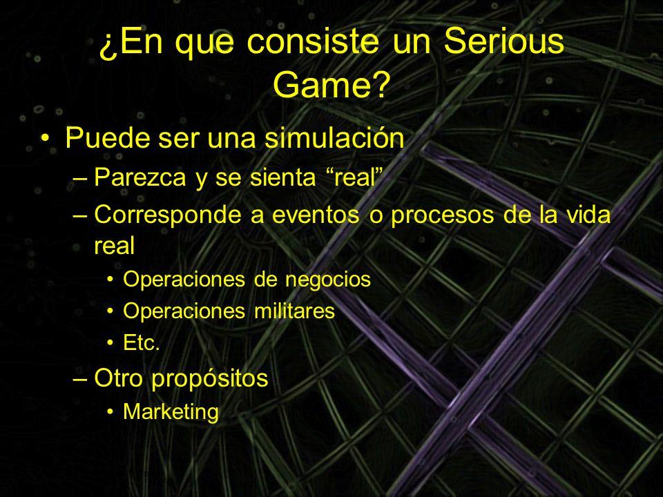 ¿En que consiste un Serious Game