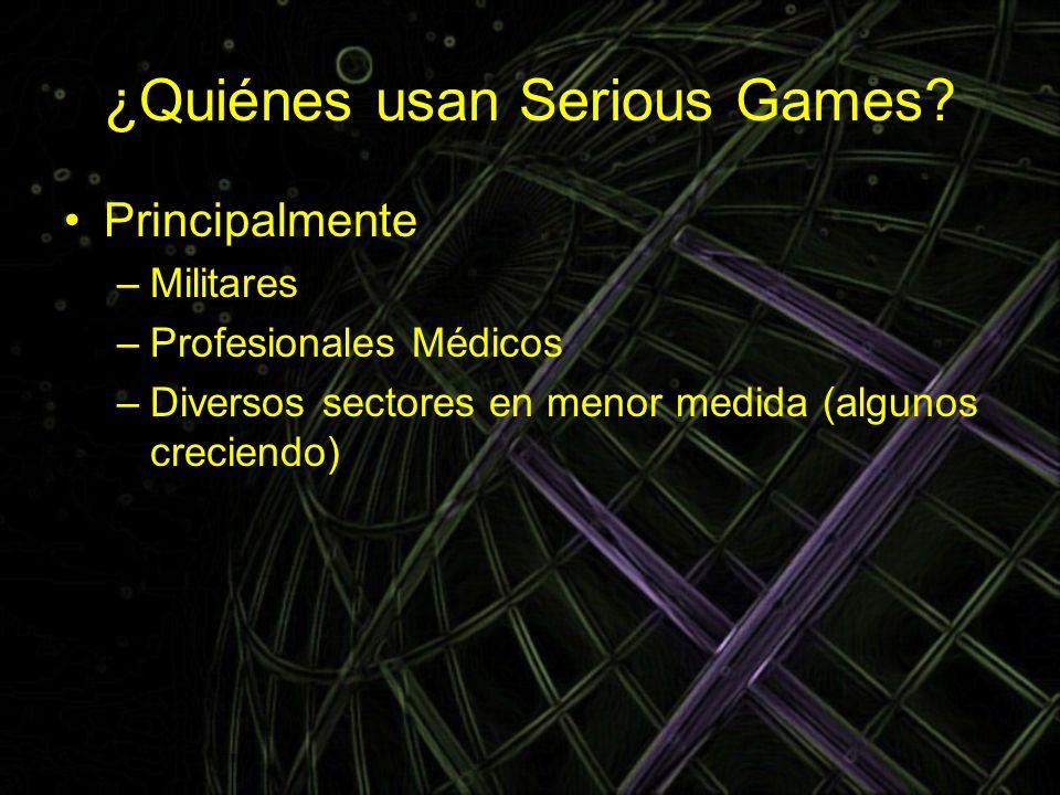 ¿Quiénes usan Serious Games