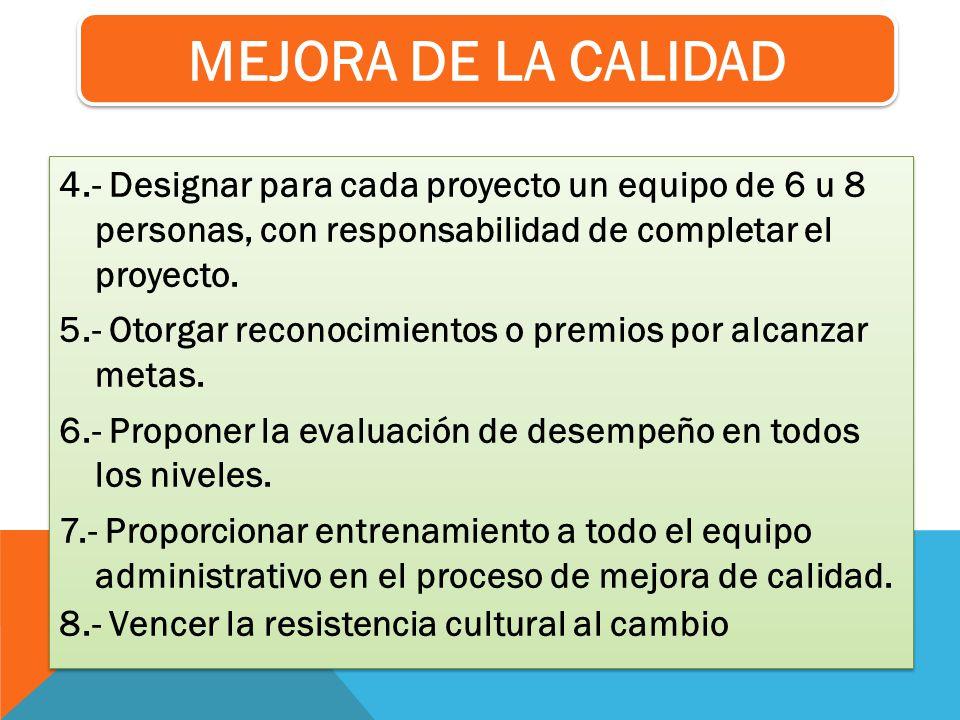 MEJORA DE LA CALIDAD