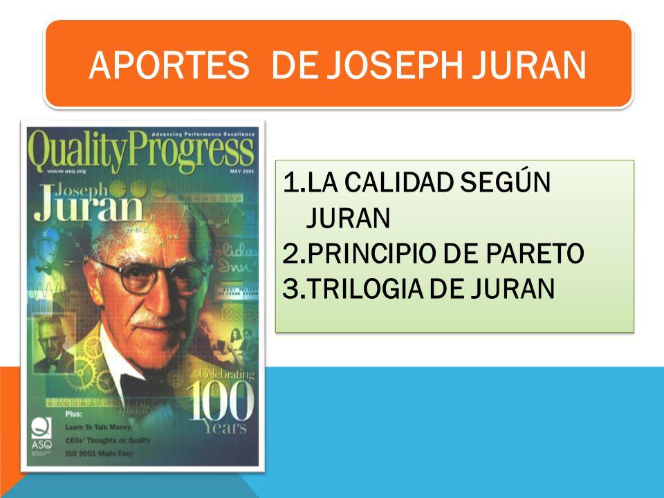 APORTES DE JOSEPH JURAN
