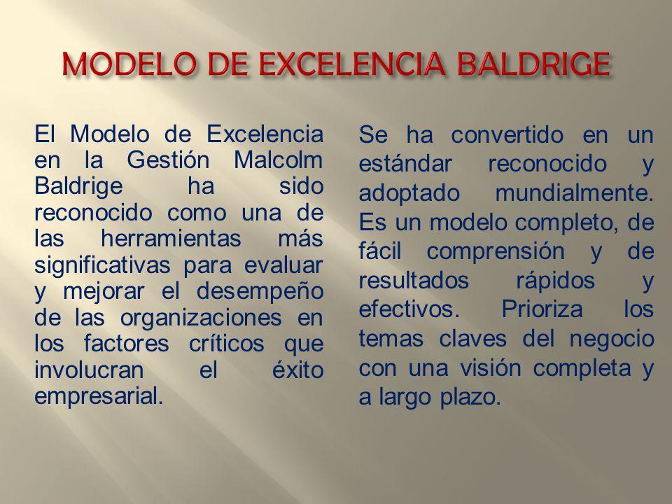 MODELO DE EXCELENCIA BALDRIGE