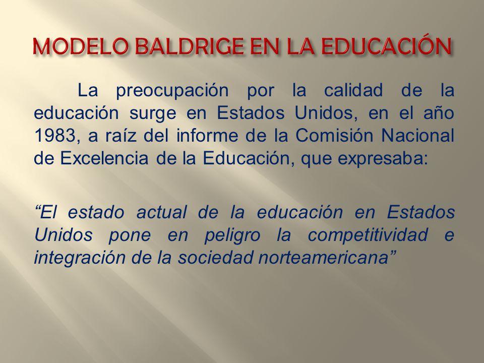 MODELO BALDRIGE EN LA EDUCACIÓN