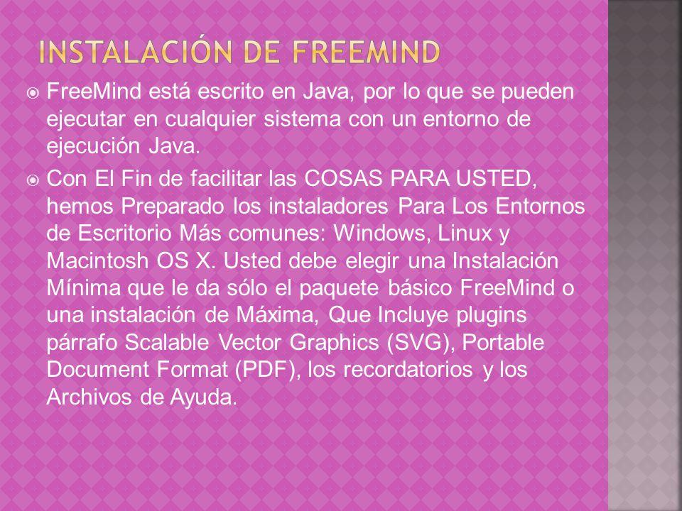Instalación de FreeMind