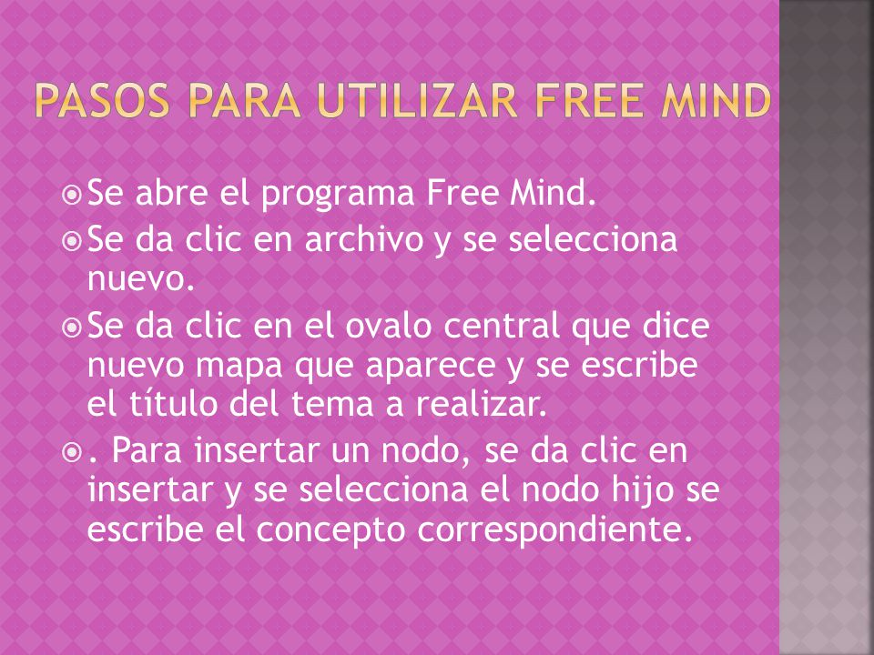 Pasos para utilizar Free Mind