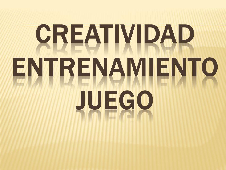 creatividad entrenamientoJUEGO