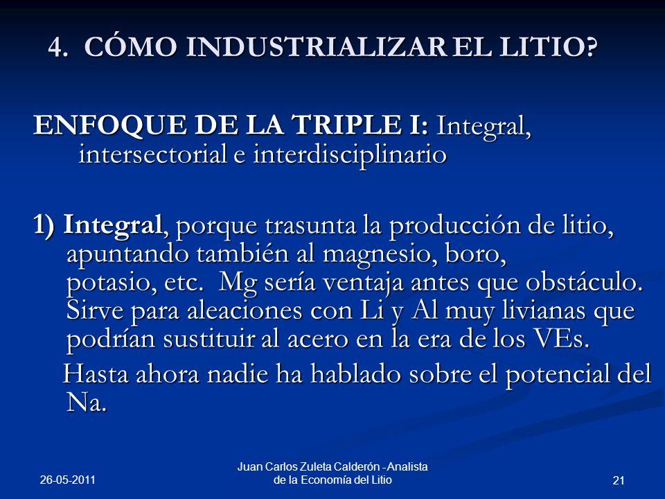 4. CÓMO INDUSTRIALIZAR EL LITIO