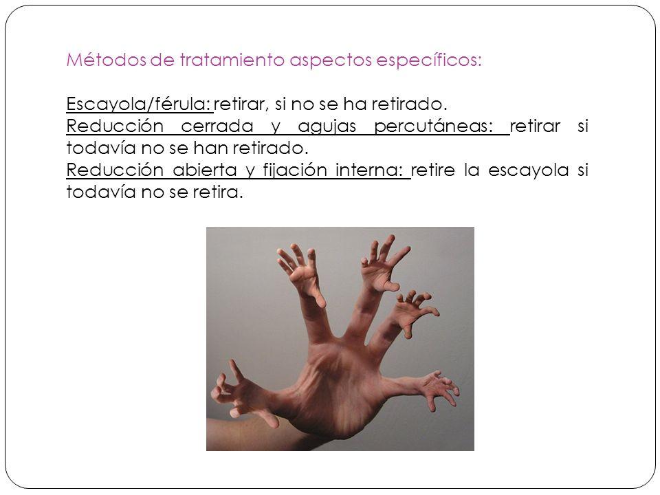 Métodos de tratamiento aspectos específicos: