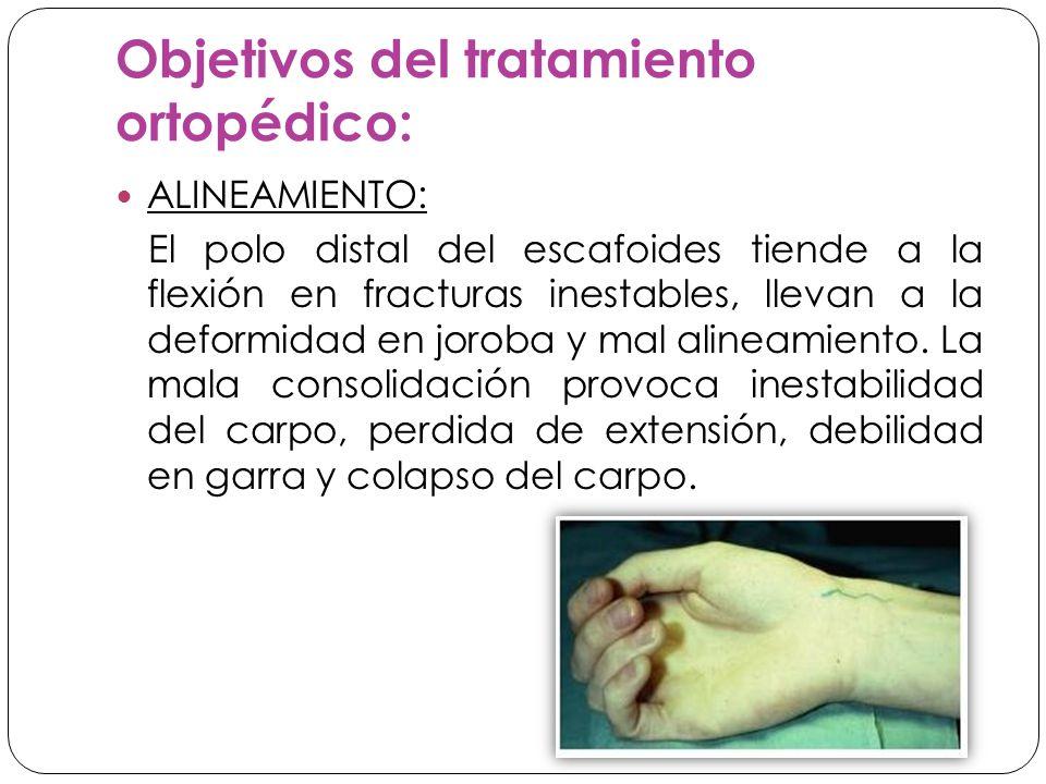 Objetivos del tratamiento ortopédico: