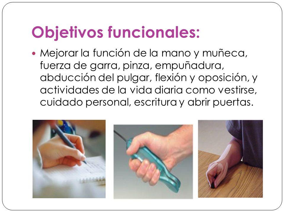 Objetivos funcionales: