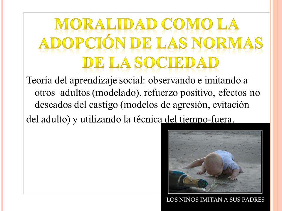 Moralidad como la adopción de las normas de la sociedad