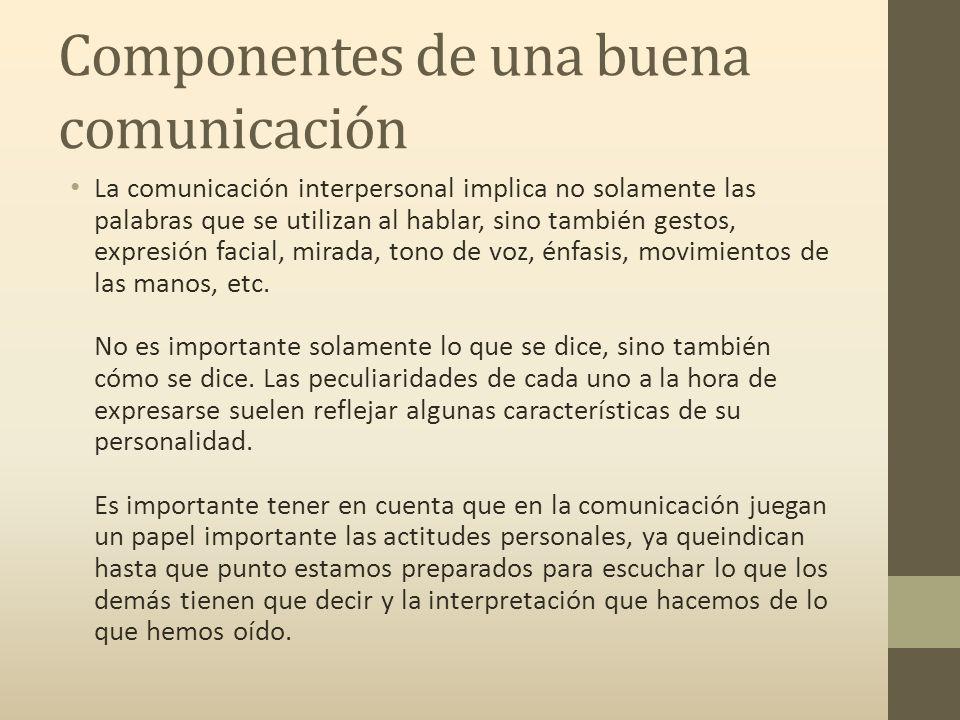 Componentes de una buena comunicación