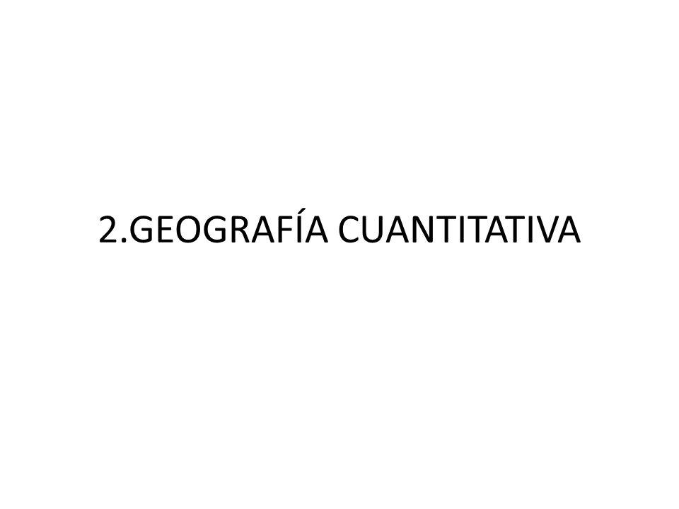 2.GEOGRAFÍA CUANTITATIVA