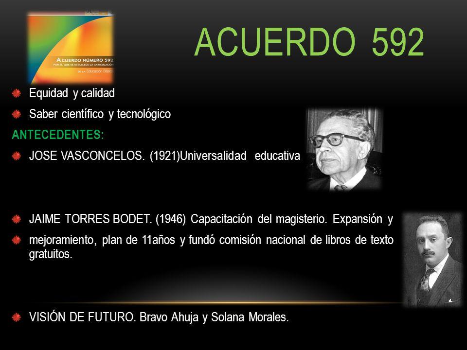 ACUERDO 592 Equidad y calidad Saber científico y tecnológico