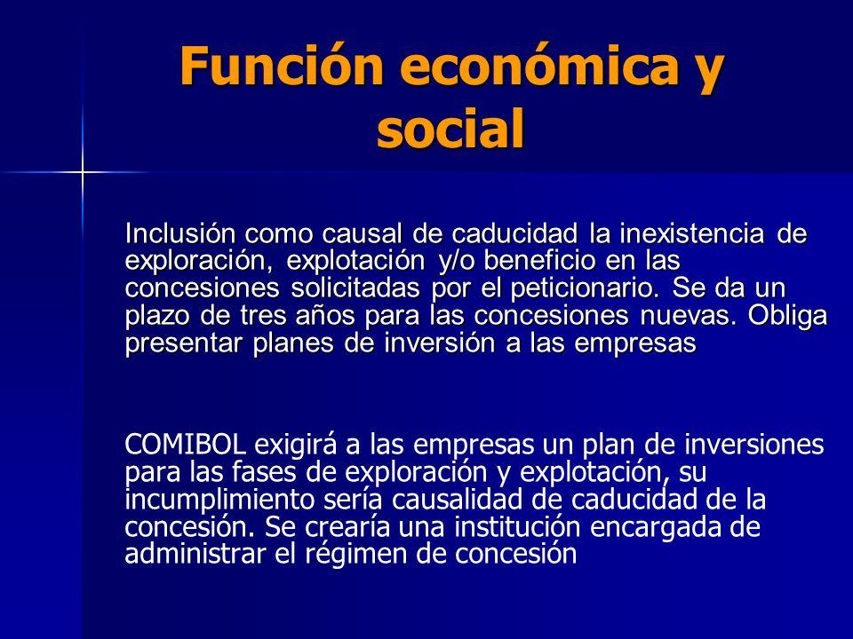 Función económica y social