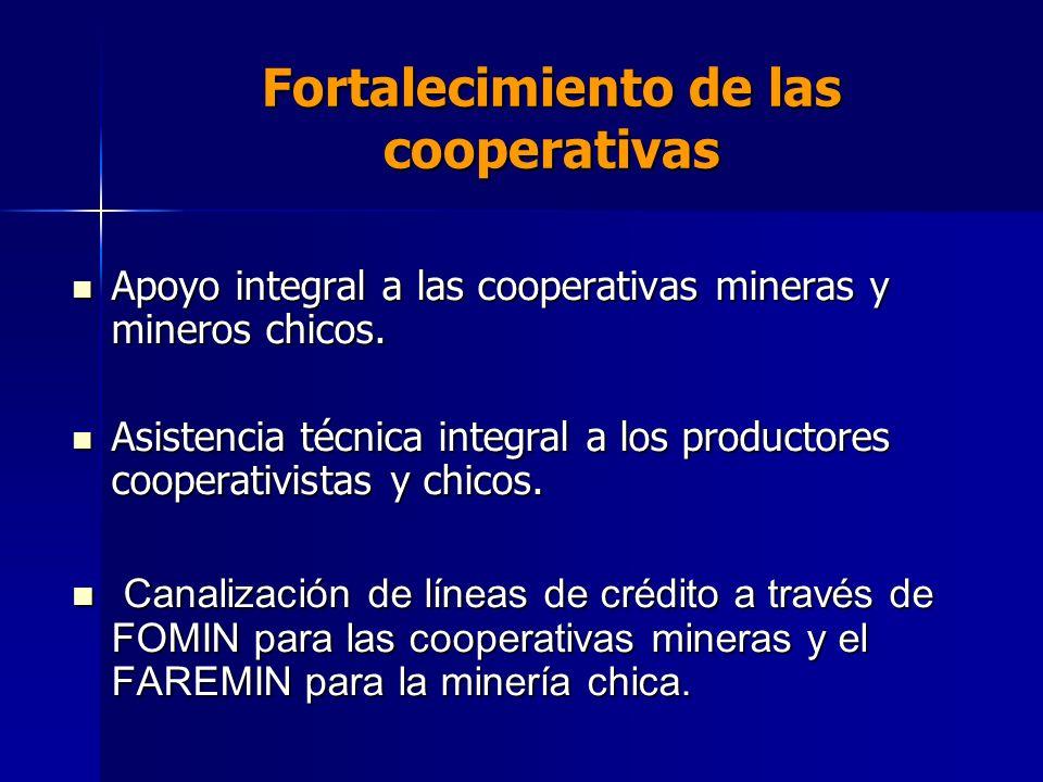 Fortalecimiento de las cooperativas