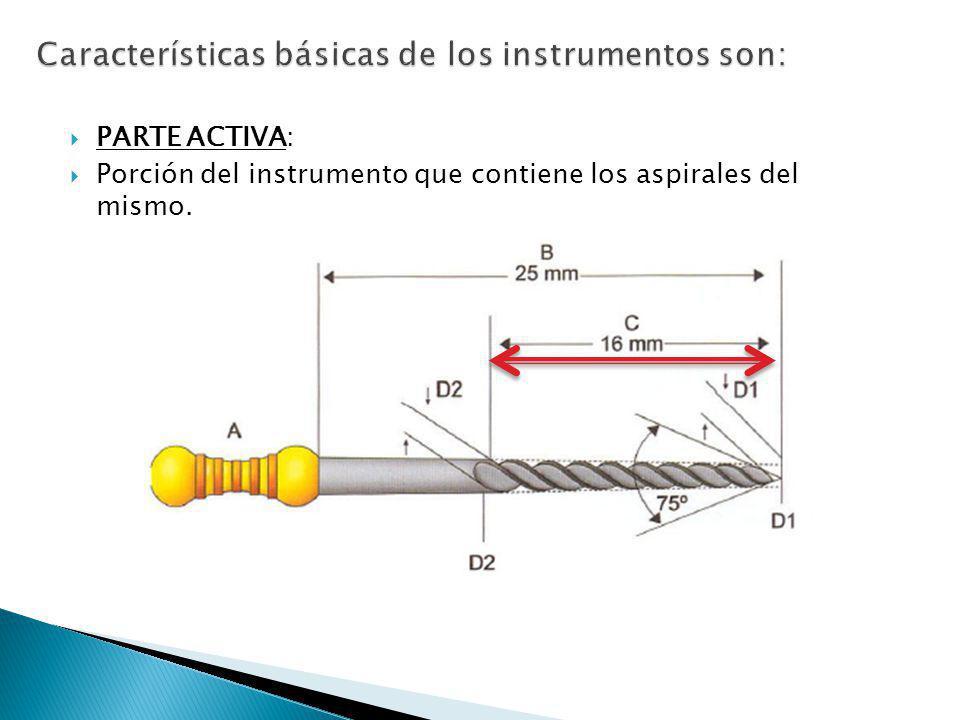 Características básicas de los instrumentos son: