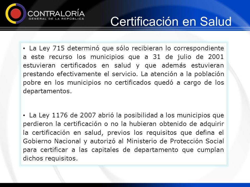 Certificación en Salud