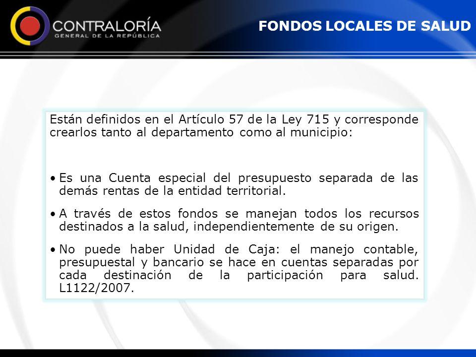 FONDOS LOCALES DE SALUD