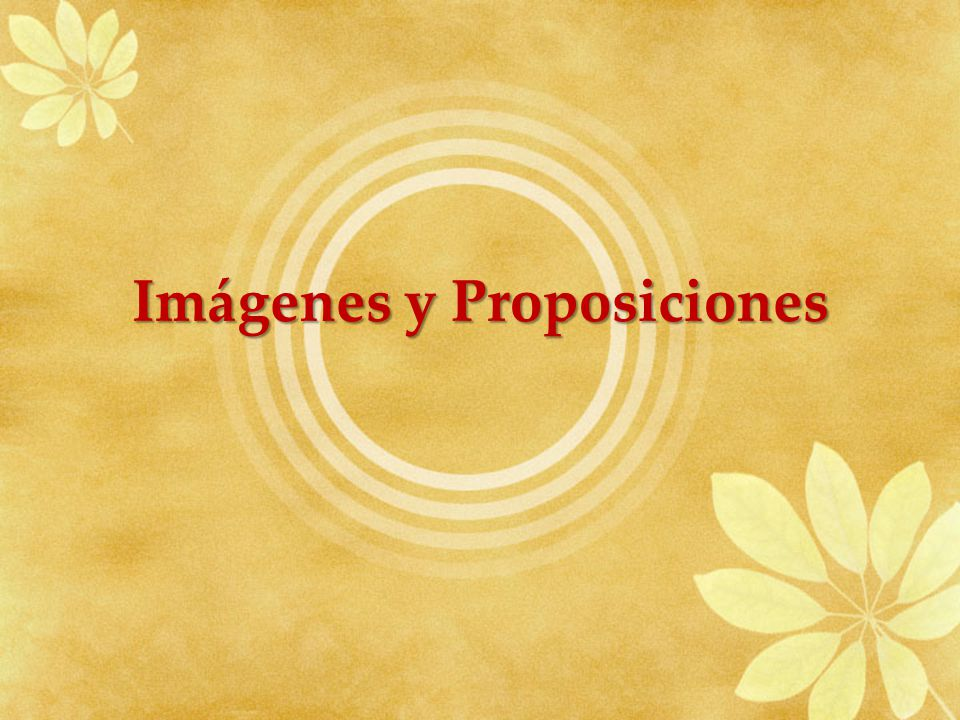 Imágenes y Proposiciones