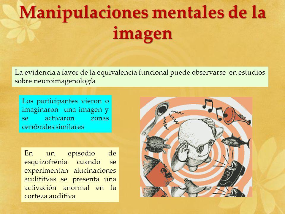 Manipulaciones mentales de la imagen