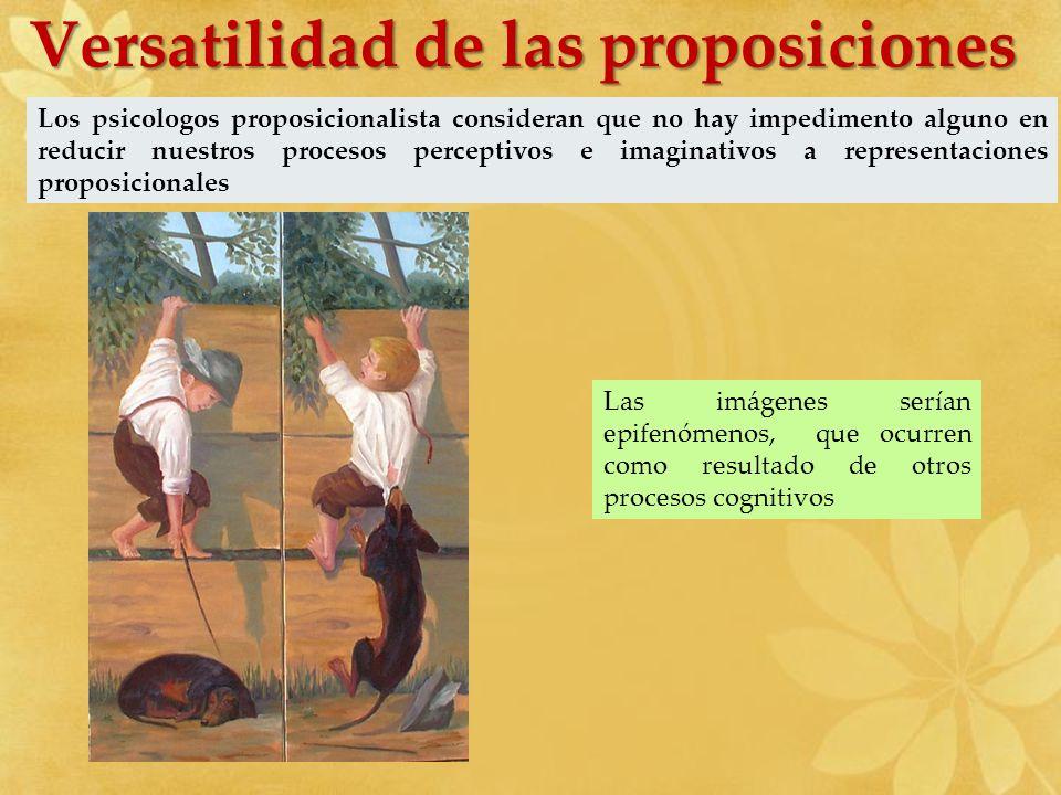 Versatilidad de las proposiciones