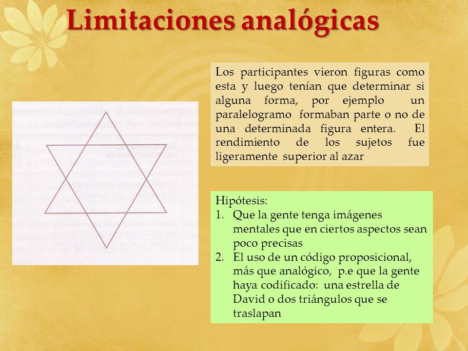 Limitaciones analógicas