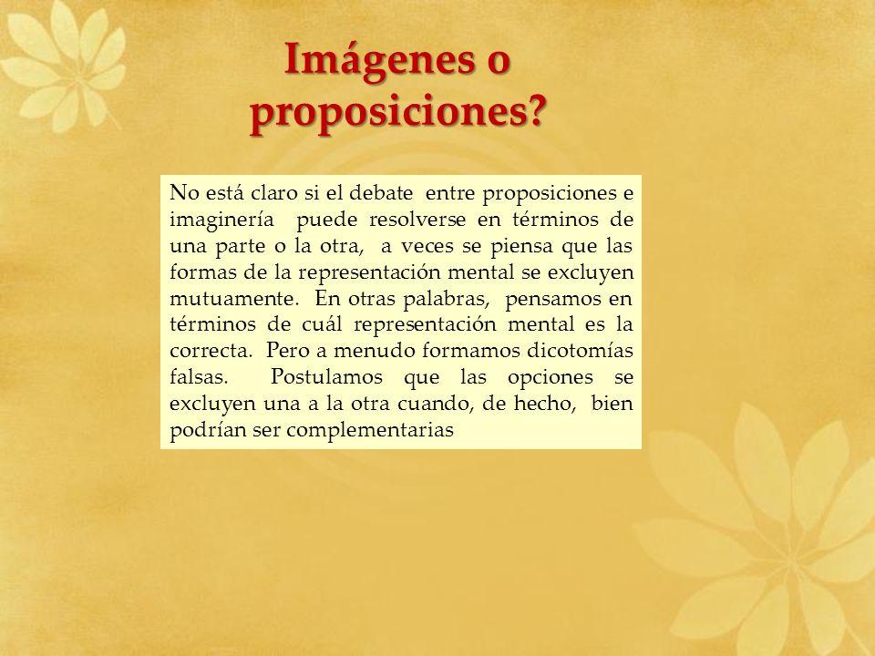 Imágenes o proposiciones