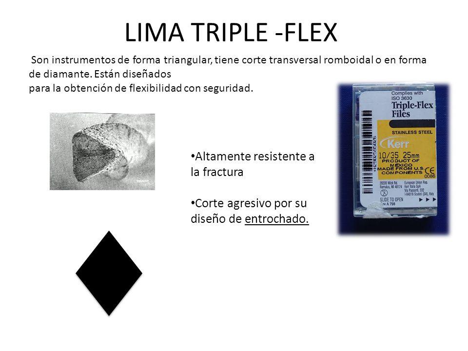 LIMA TRIPLE -FLEX Altamente resistente a la fractura