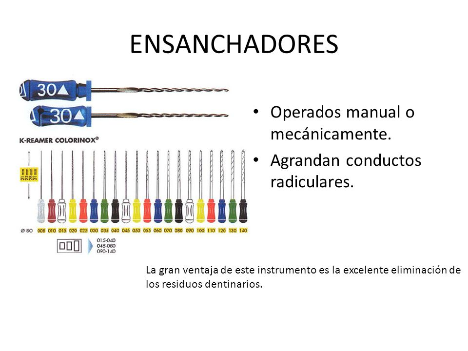 ENSANCHADORES Operados manual o mecánicamente.