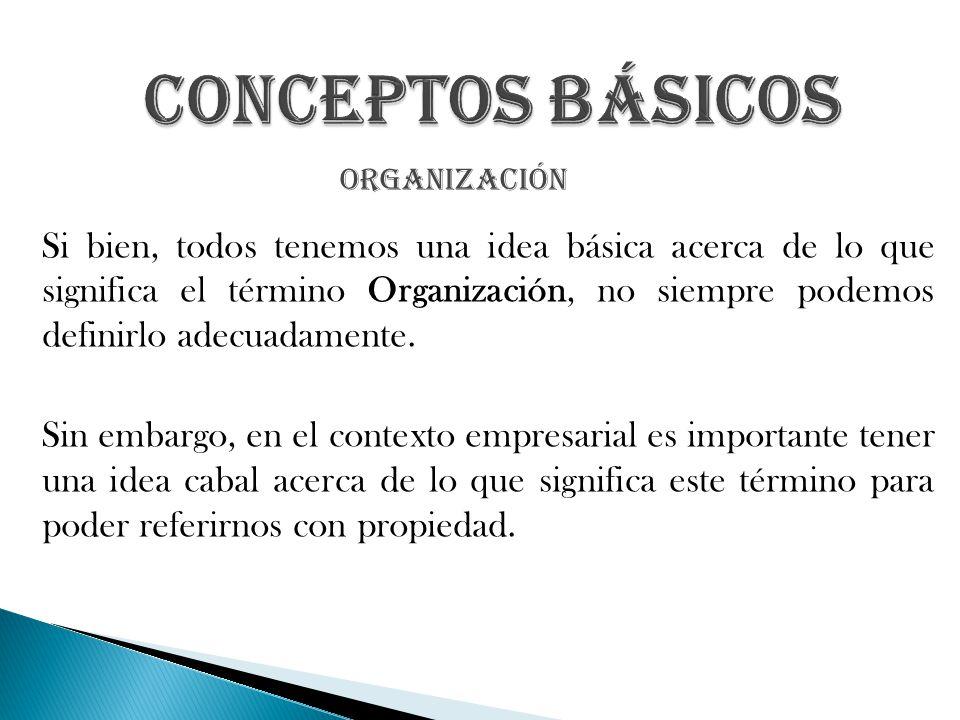 Conceptos Básicos organización.