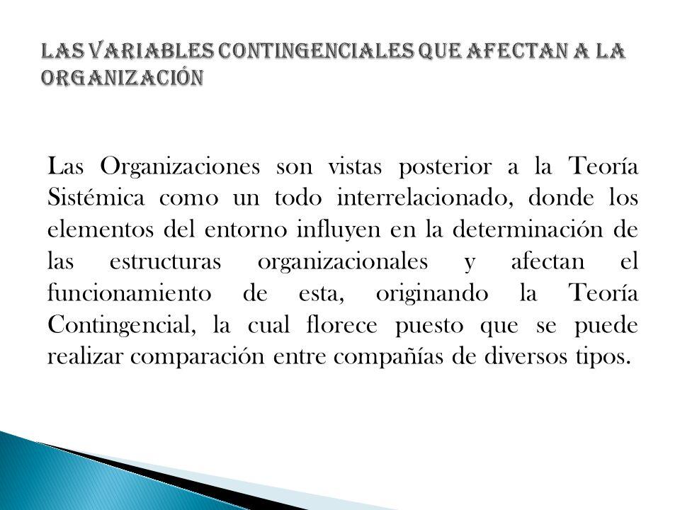 Las Variables Contingenciales que afectan a la Organización