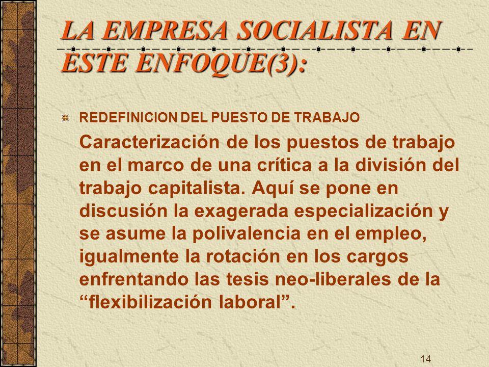LA EMPRESA SOCIALISTA EN ESTE ENFOQUE(3):