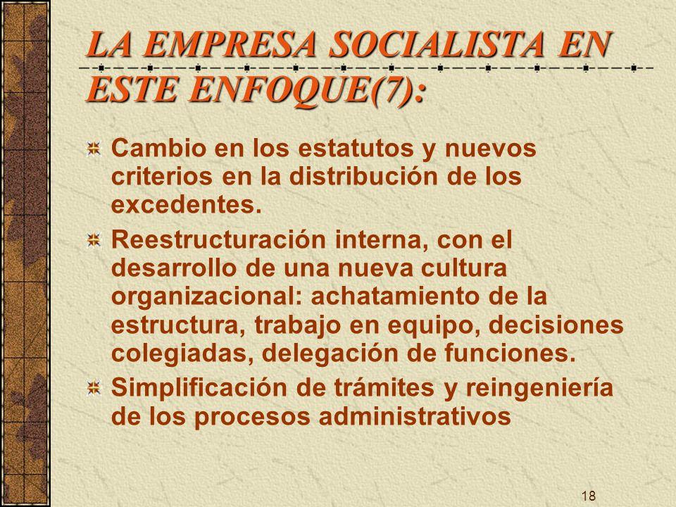 LA EMPRESA SOCIALISTA EN ESTE ENFOQUE(7):