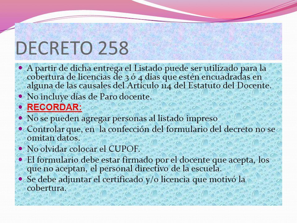 DECRETO 258