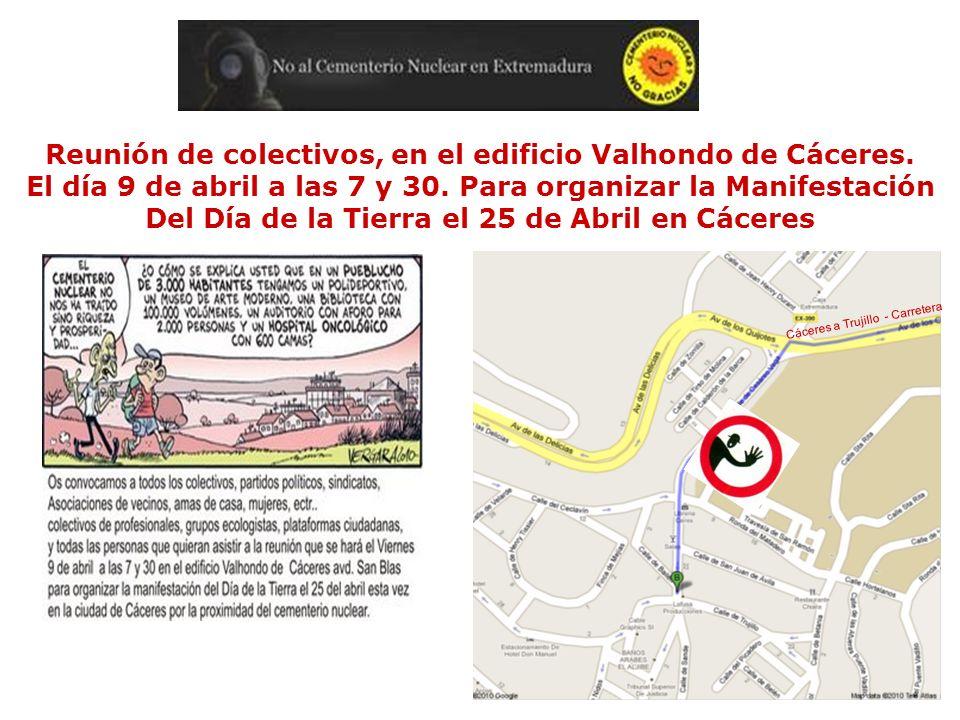 Reunión de colectivos, en el edificio Valhondo de Cáceres.