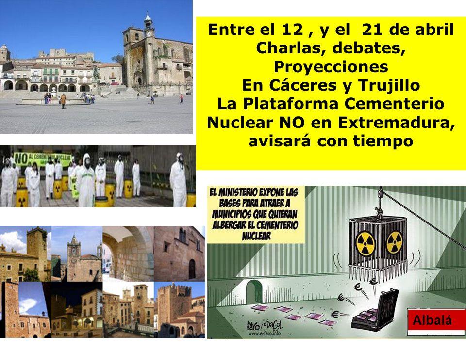 Charlas, debates, Proyecciones En Cáceres y Trujillo