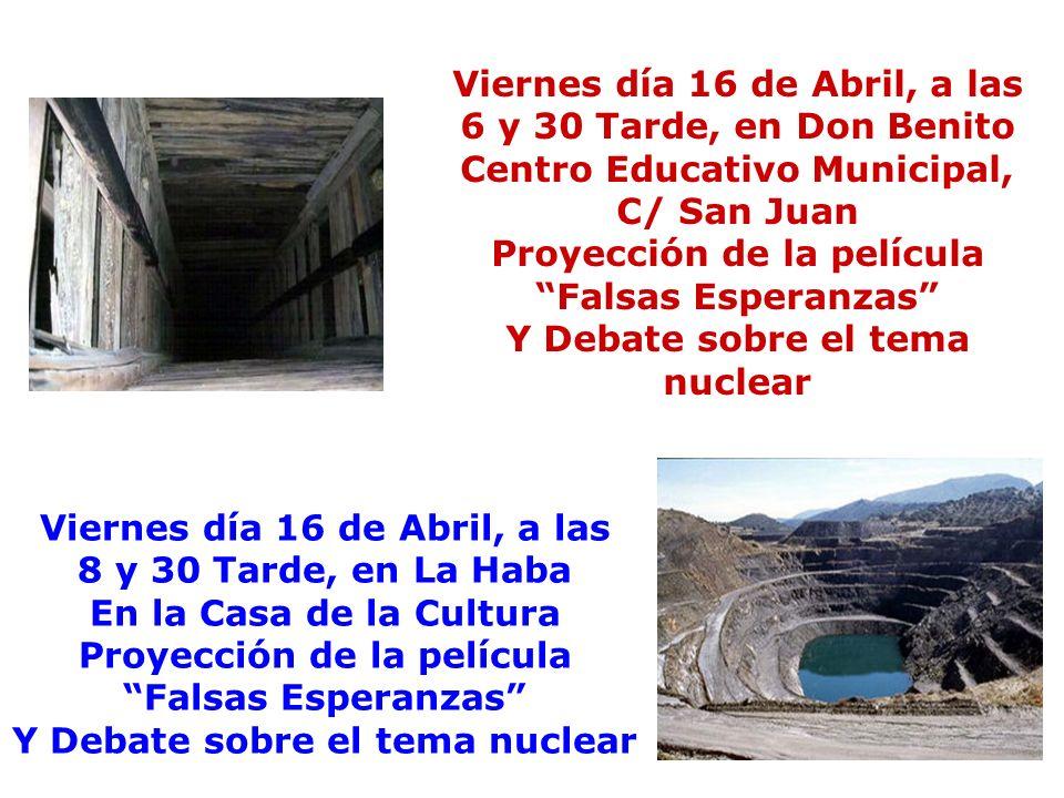 Viernes día 16 de Abril, a las 6 y 30 Tarde, en Don Benito