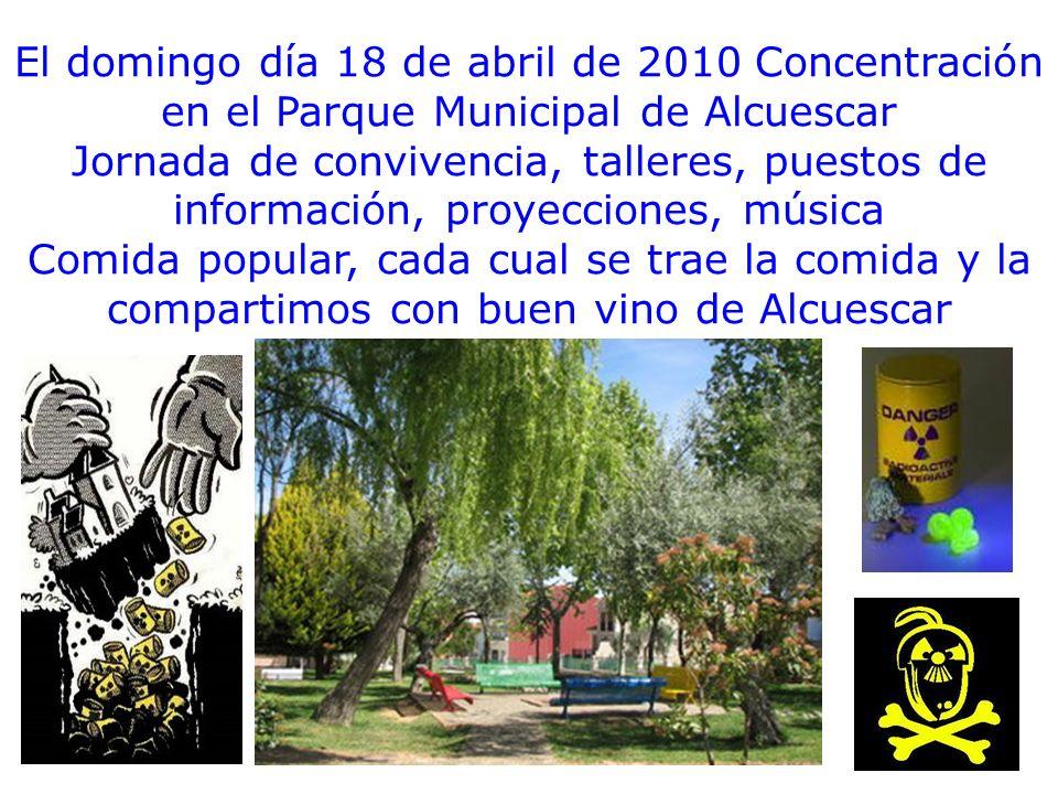 El domingo día 18 de abril de 2010 Concentración en el Parque Municipal de Alcuescar