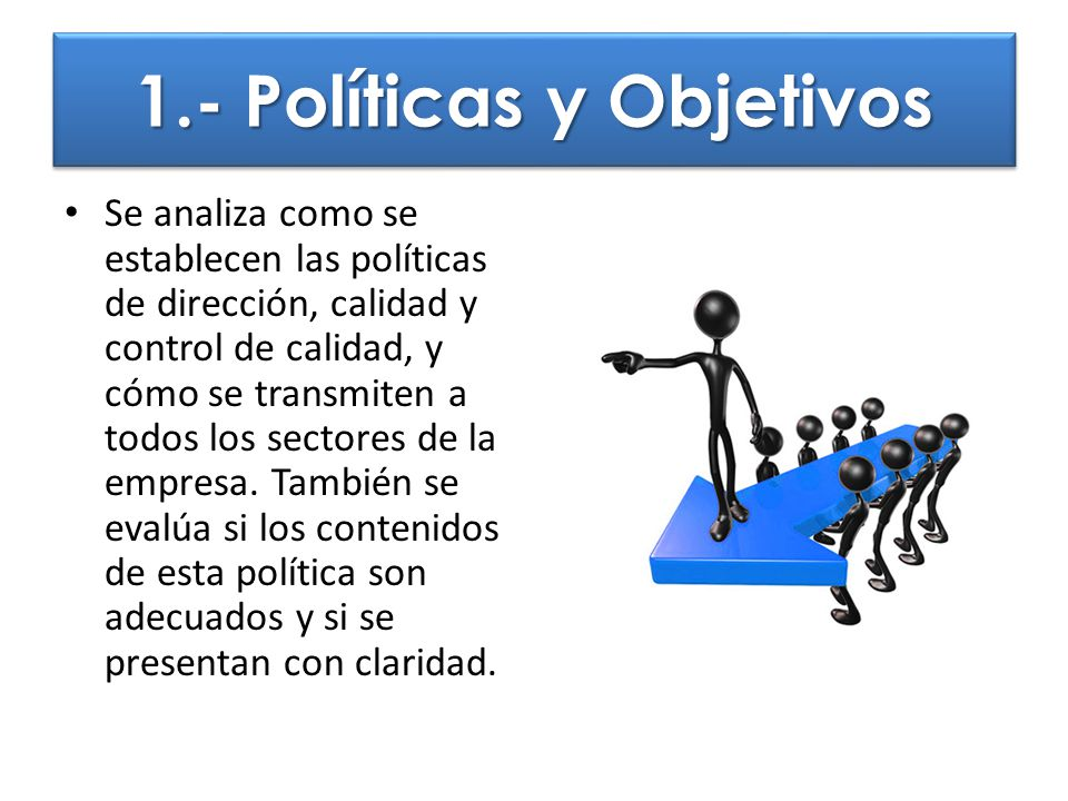 1.- Políticas y Objetivos