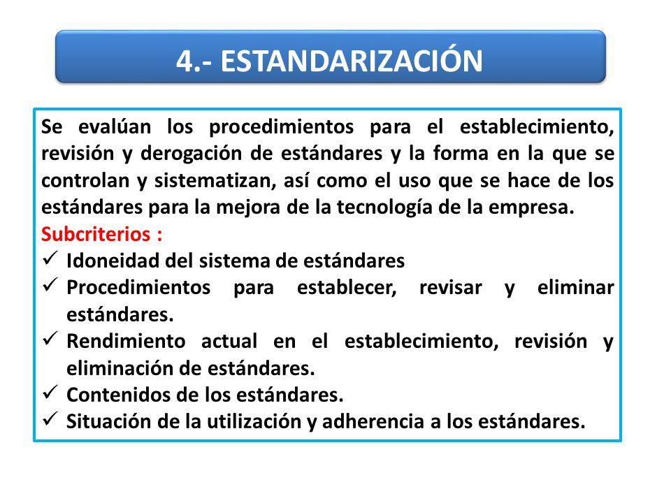 4.- ESTANDARIZACIÓN