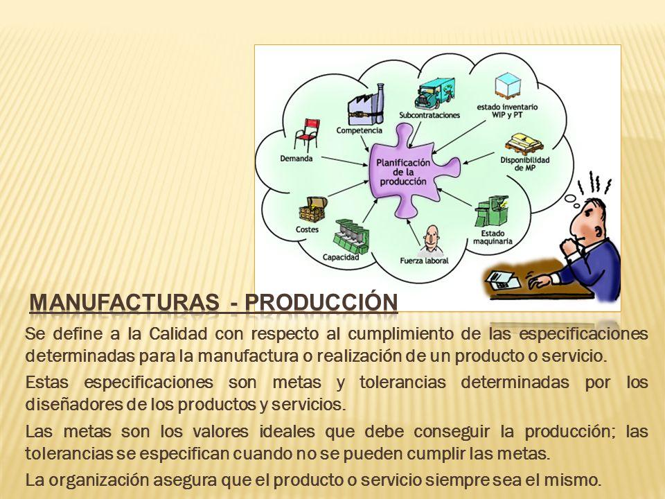 Manufacturas - producción