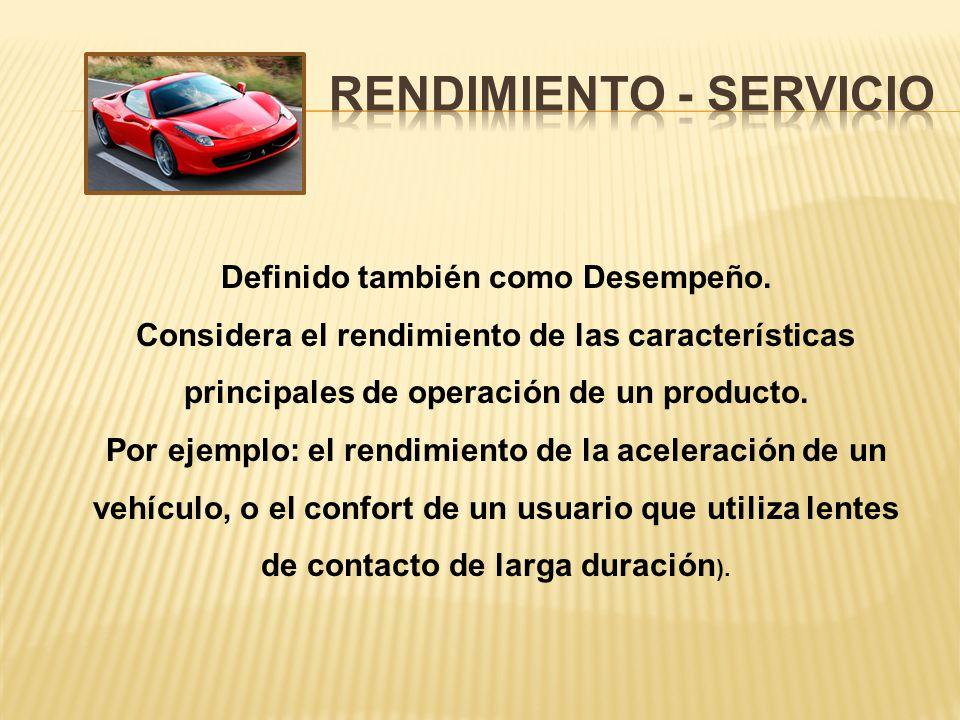 Rendimiento - servicio