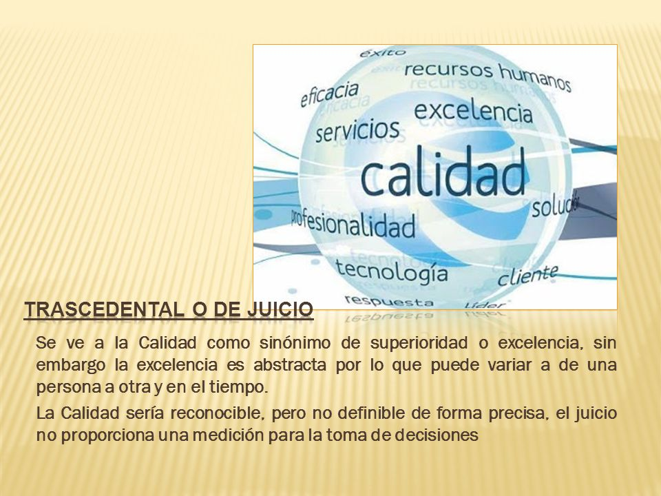 TRASCEDENTAL O DE Juicio