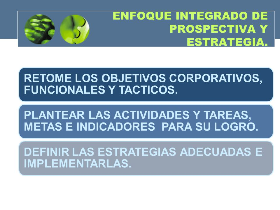 ENFOQUE INTEGRADO DE PROSPECTIVA Y ESTRATEGIA.