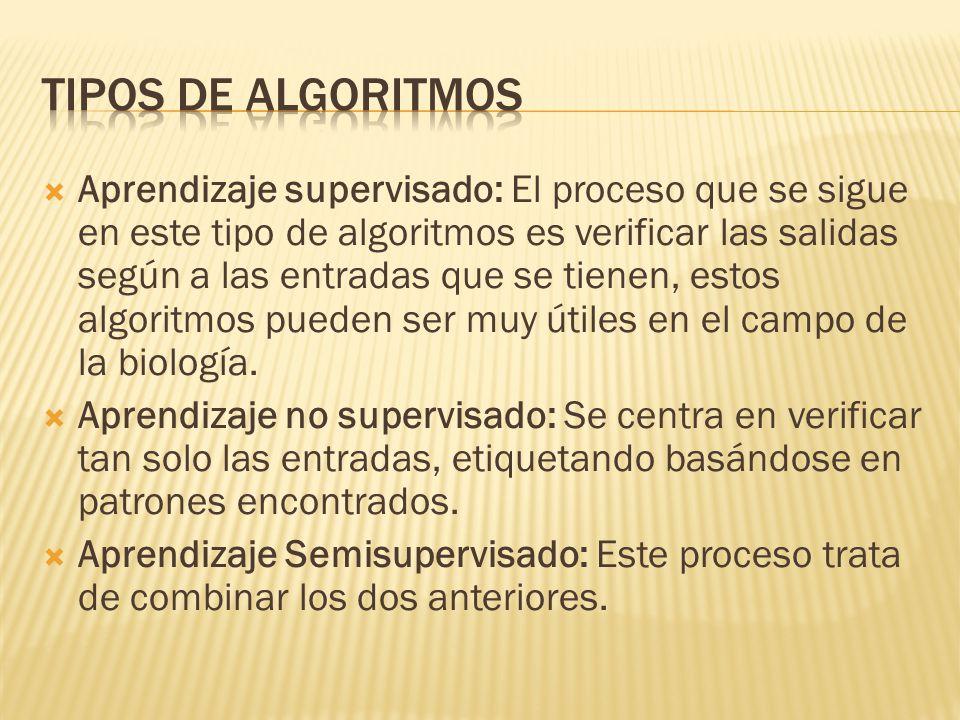 Tipos de algoritmos